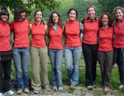 Algunas de las representantes de la Comisión Mujer y Deporte (de izquierda a derecha): Miriam Marco, Cecilia Buil, Pilar Maza, Sonia Casas, Isabel Santolaria, Marta Alejandre, Mª José Nana y Vanessa Adisson.- Foto: FEDME