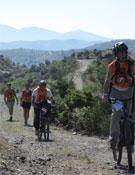 Momento de una sección de bicicleta de montaña de la pasada edición.- Foto: Org. Boomerang Orientaventura