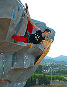 Patxi Usobiaga, actual Campeón de la Copa del Mundo de Escalada de Dificultad.- Foto: desnivelpress.com