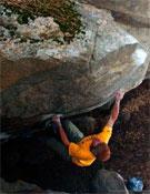 Daniel Woods en un bloque de Poudre Canyon.- Foto: Col. Daniel Woods