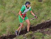 Antonella Confortola durante el Vertical Kilometer de este año, en el que marcó un nuevo récord: 34 minutos y 51 segundos.- Foto: newspower.it