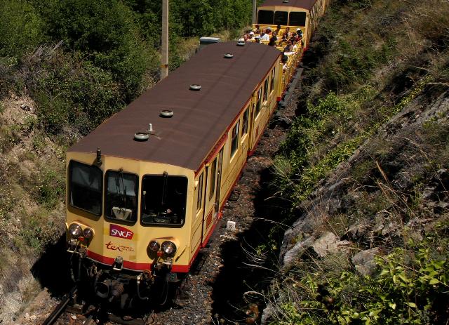 """El """"Train Jaune"""" cumple 80 años.<br>Foto: Víctor Riverola"""