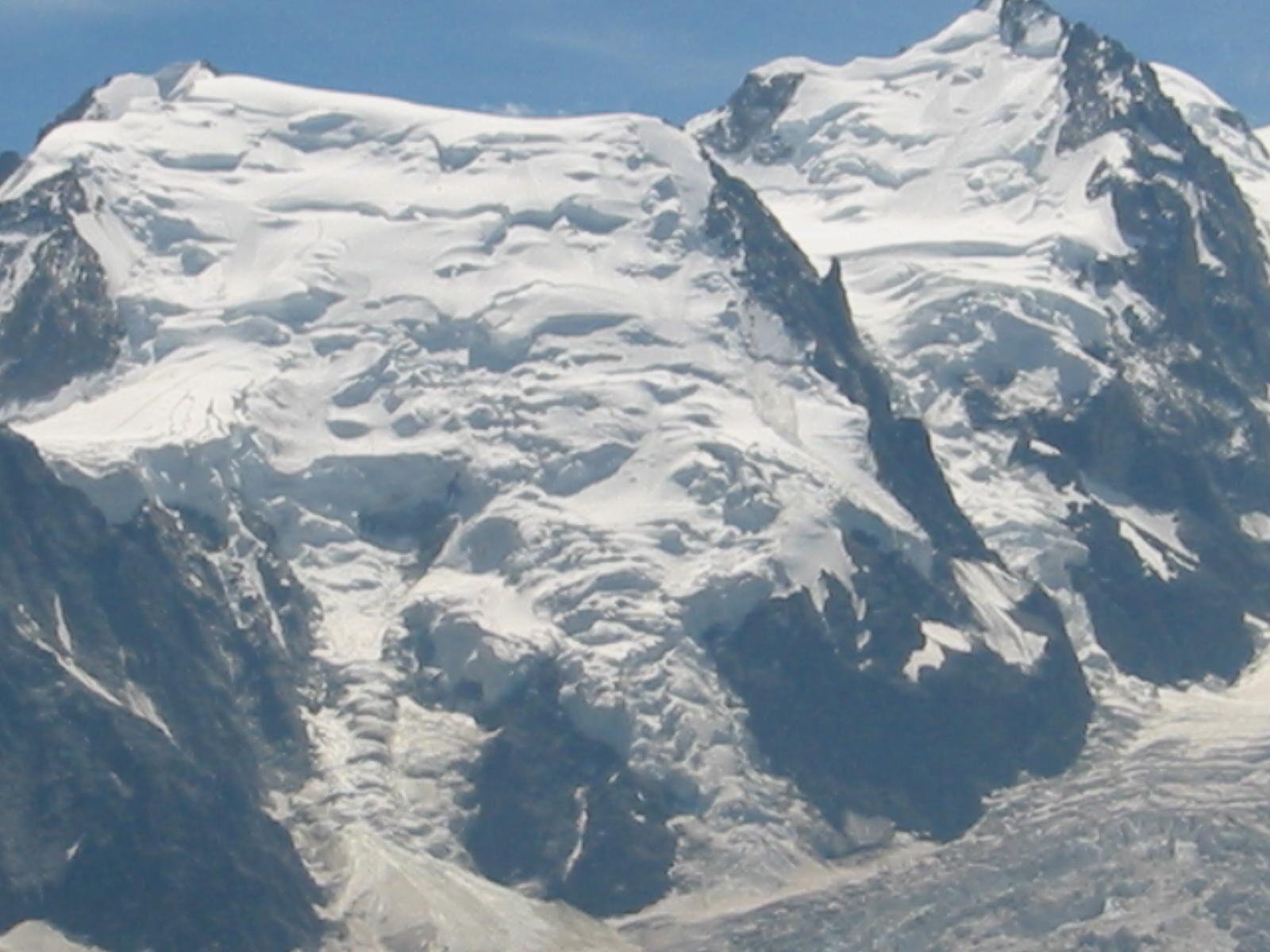 Vista del Mont Blanc du Tacul.