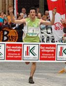 Kilian Jornet venciendo en el Campeonato de Europa disputado en Zegama.- Foto: Col. Kilian Jornet