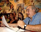 Miguel Ángel García Gallego durante un acto en la Librería Desnivel.- Foto: desnivelpress.com