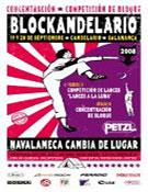 Cartel del Blockandelario 2008.- Foto: Organizacion