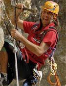 David Palmada Pelut y su querido amigo Martillo.<br>Foto: desnivelpress.com
