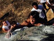 Ignasi en acción durante el Blockandelario 2008.- Foto: desnivelpress.com