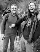 Un peludo Ignasi junto a su padre, Rafael Tarrazona.- Foto: desnivelpress.com