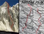 Croquis de Guilleries al Neyzah Peak.- Foto: himalalts.net