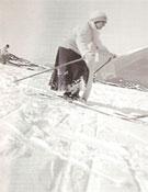 Una de las fotografías que se podrán ver en la exposición Cien años de esquí en Catalunya.