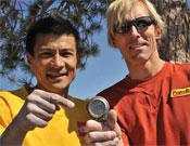 Yuji y Hans en la cima de El Capitan este 12 de octubre.- Foto: speedclimbing.com