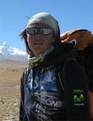 Edurne en el base del Shisha Pangma.- Foto: Col. Edurne Pasabán