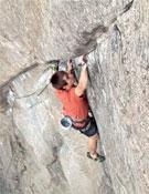 Ethan durante un intento a China doll, 8b+ en autoprotección de Boulder Canyon, Colorado.- Foto: Col. Ethan Pringle
