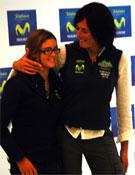 Edurne Pasabán y Gisela Pulido, hoy en Madrid.- Foto: desnivelpress.com