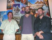 Martínez, López Soriano y Selva, los tres integrantes de este viaje al