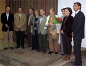 Félix Méndez (en el centro, con pajarita), familia y algunas autoridades presentes.- Foto: Organización