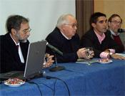 Durante el acto de apertura de las jornadas. De izquierda a derecha: Antonio José Herrera, Padre Ferre, Pablo García y Julio Perea. - Foto: Organización