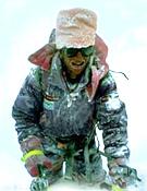 Ferrán Latorre durante el descenso del Shisha Pangma central en 1992.- Foto: ferranlatorre.com