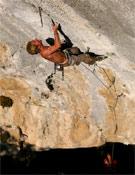 Andreas sobre PuntX, primera repetición del ¿9a/a+? de Alex Chabot.- Foto: Philippe Maurel / nice-climb.com