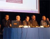 Los ponentes de la última mesa redonda de las jornadas.- Foto: PDMA