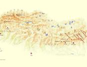 Mapa con la situación de los ochomiles.- Foto: Cortesía de Simone Moro