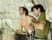 Chris Sharma y Dani Andrada, en primer plano.- Foto: desnivelpress.com