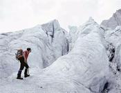 Aspecto del Glaciar de Ossoue en 1985. Foto publicada en el libro