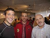 De izquierda a derecha; Alex Chicón, Alberto Ayora y Sebastián Álvaro.- Foto: desnivelpress.com