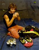 Edu Marín preparándose para una tarde en la sala Climbat de Barcelona.- Foto: desnivelpress.com