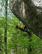 Adam Ondra en Action direct (9a).- Foto: Azbest Bída / Czech Climbing