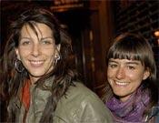 Cecilia junto a Miriam Marco, miembro del equipo. Foto: desnivelpress.com