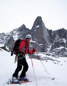 Dani Crespo, miembro del Equipo Español de Alpinismo, aproximándose al Petit Dru.- Foto: cortesía de Daniel Crespo