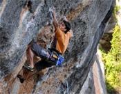 Danilo Pereyra sobre A muerte, 8c+ de Siurana.- Foto: danclimb.blogspot.com