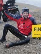 Chinotto tras concluir el Antarctica Marathon.- Foto: col. Juan Antonio Alegre