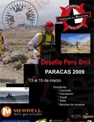 Cartel del Desafío Perú 8mil.