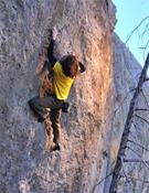 Caldiero sobre The present, 8b+ en las Gorilla Cliffs de Utah.- Foto: Keith Ladzinsky