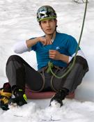 Erlantz Díaz, hielo precoz.- Foto: col. E. Díaz
