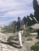 Excursionistas en La Pedriza