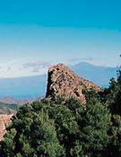Paisaje y paredes en La Gomera.
