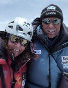 La pareja ascendió el Lhotse