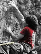 Dani Fuertes en Kalymnos (Grecia). Foto: danifuertes.blogspot.com