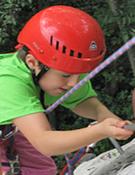 Imagen del festival de escalada infantil de 2008.