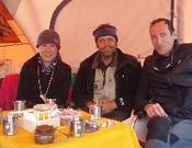 Oh, Miguel Fernandez y Alberto Zerain en el Kangchen. Foto: A. Zerain