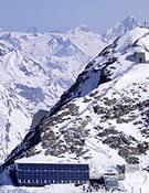 Imagen del nuevo refugio en el Klein Matterhorn.