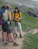 Excursionistas en el Pirineo de Huesca. Foto: Prames.