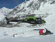 Helicóptero al CB Kangchenjunga