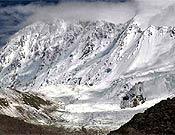 Panorámica de la cara suroeste del Shisha Pangma. Foto: edurnepasaban.net