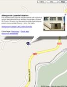 Detalle del Camino de Santiago en Google