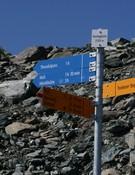 Señalización de senderos en Suiza